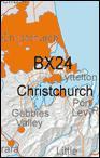 Topo50 map BX24 - Christchurch