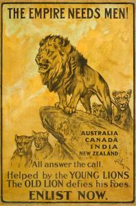 British recruitment poster from 1914