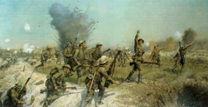 The Battle Of The Somme - Attack Of The Ulster Division - By J. P. Beadle (Cranston Fine Arts)