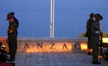 Anzac cove, dawn service