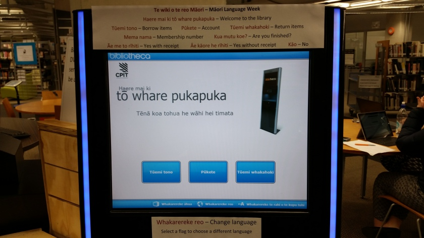 self check machine in Maori