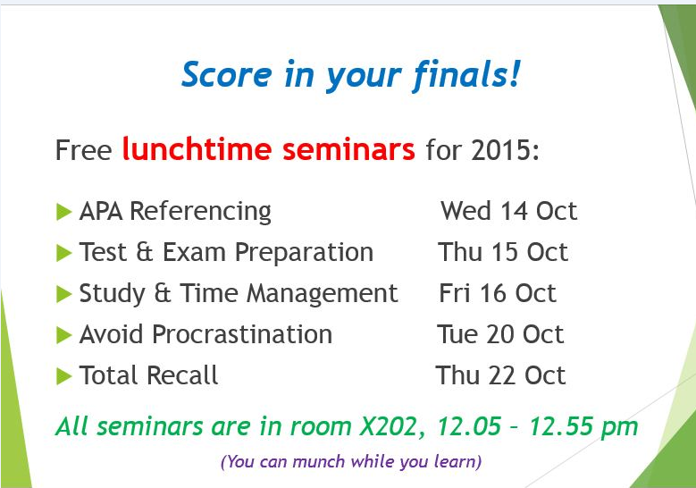 Lunchtime Seminars