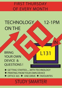 Technology on the go poster
