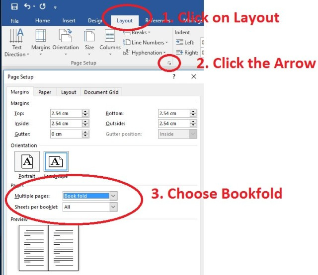 Print a booklet in Microsoft Word 2016 | Ara Library Blog