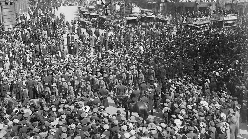 Anzac Day Crowd